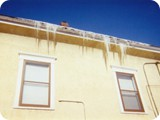 Ice Dams on Sides of House