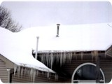 Two Major Ice Dams Over the Entrance
