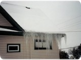 Ice Dams On The South Side Of Home
