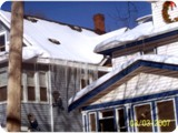 Ice Dams Formed By Heat Loss From Roof Vents