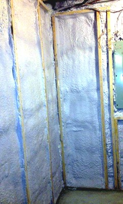 Basement Wall Insulation After Completed by Houle Insulation