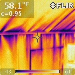 Infra-Red Scan After Completed by Houle Insulation