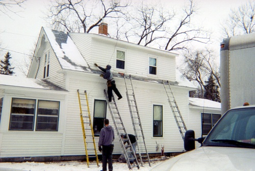 Re-attaching Siding