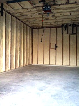Garage Attic and Walls After Completed by Houle Insulation